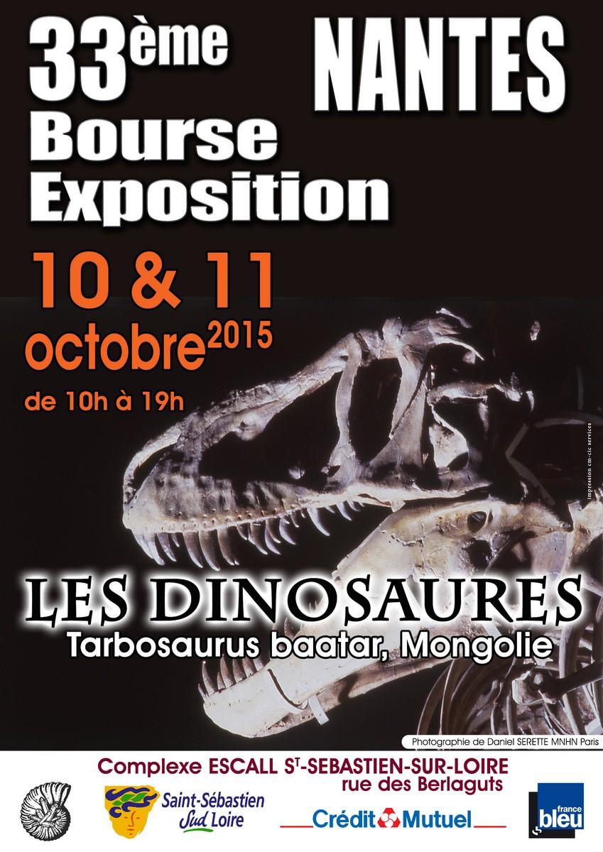 Tricératops (long. 6 m, hauteur 2,2 m) et d'un Tyrannosaure Rex (long. 12 m, hauteur 5 m)